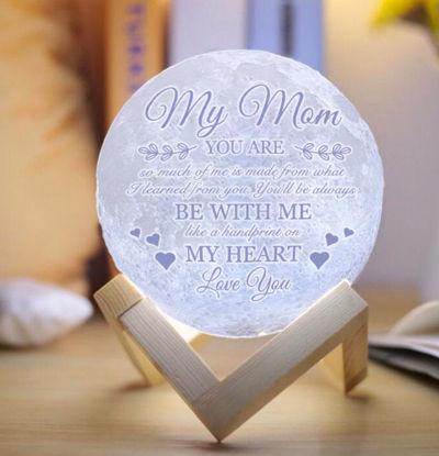 Image de Lampe de lune 3D personnalisée avec des mots tactiles à commande tactile pour maman (10cm-20cm)