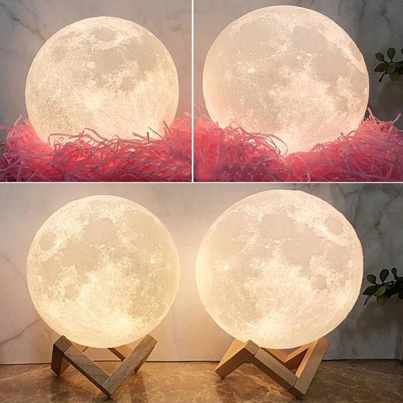 Immagine di Lampada lunare 3D personalizzata con controllo tattile Parole toccanti per la mamma (10 cm-20 cm)
