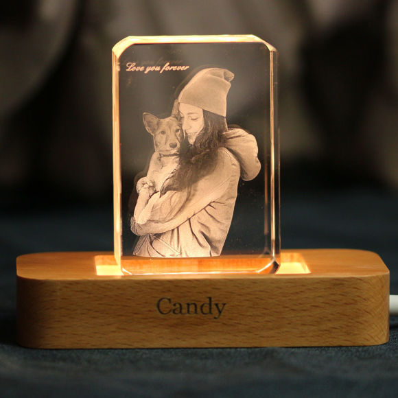 Picture of 3D Laser Crystal Gift in Portrait Rectangle