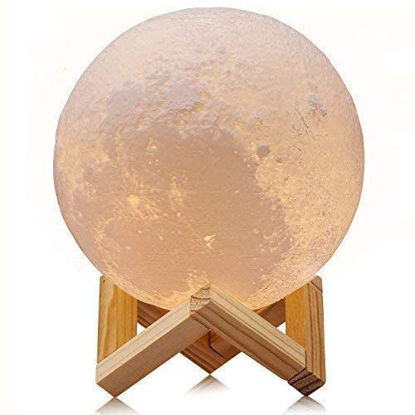 Picture of 3D Moon Lamp with Touch or Remote Control - Best Gift for Baby Girls Boys Birthday