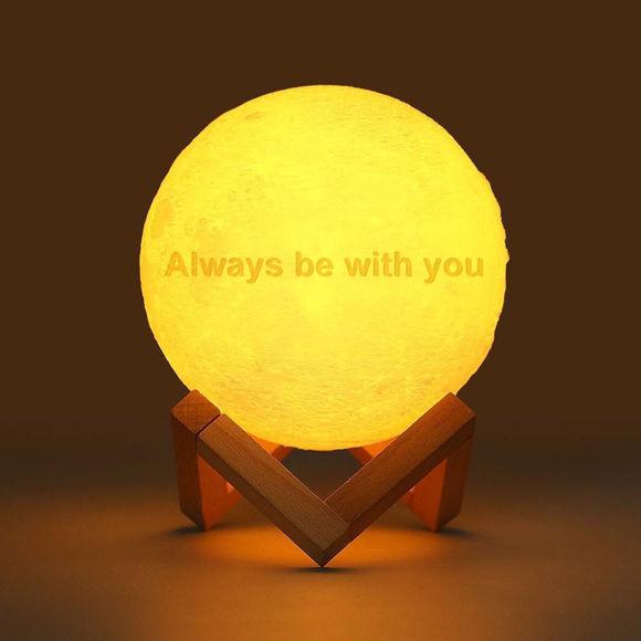 Image de Lampe de lune 3D avec télécommande ou tactile - Meilleur cadeau pour l'anniversaire de bébé fille garçon