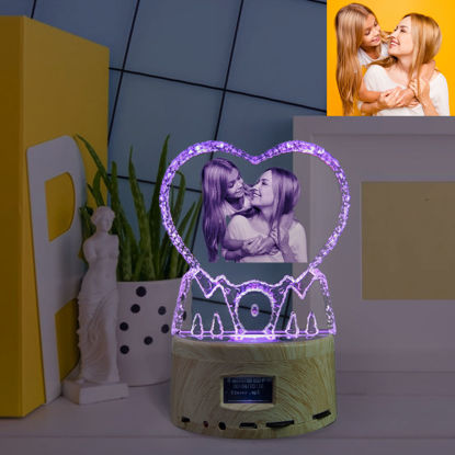 Picture of 2D Laser Crystal Gift For Mom With Bluetooth Music Box Light Base