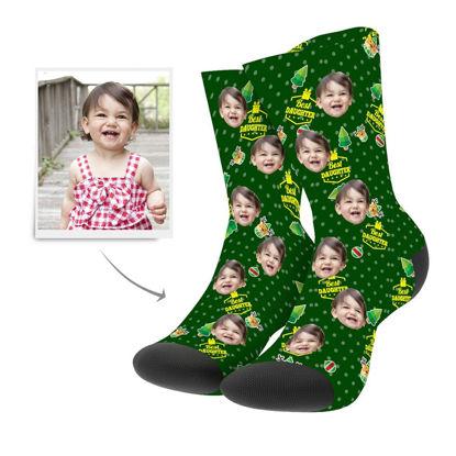 Immagine di Calzini di Natale personalizzati per tua figlia
