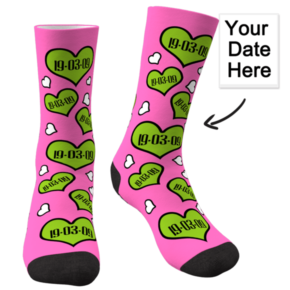 Picture of Custom Anniversary Socks For Gifts