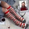 Picture of Personalized Knee High Printed Socks with Stripe Christmas