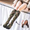 Immagine di Calze stampate personalizzate al ginocchio con stampa mimetica