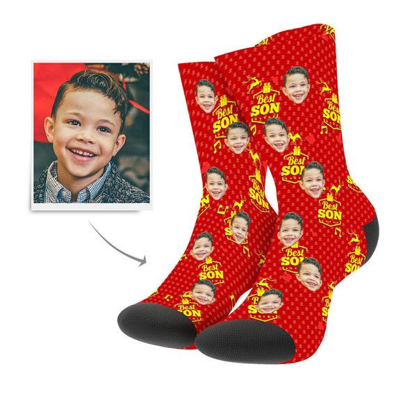 Image de Chaussettes de Noël personnalisées pour le meilleur fils