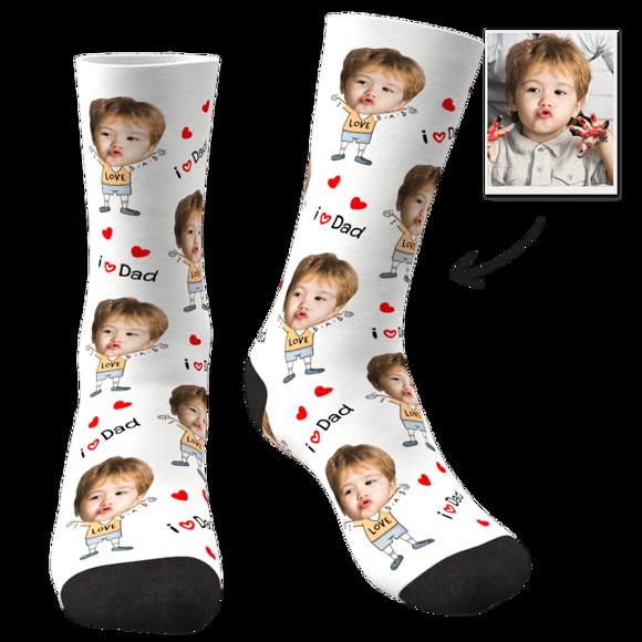 Immagine di Calzini personalizzati per il viso del più caro papà