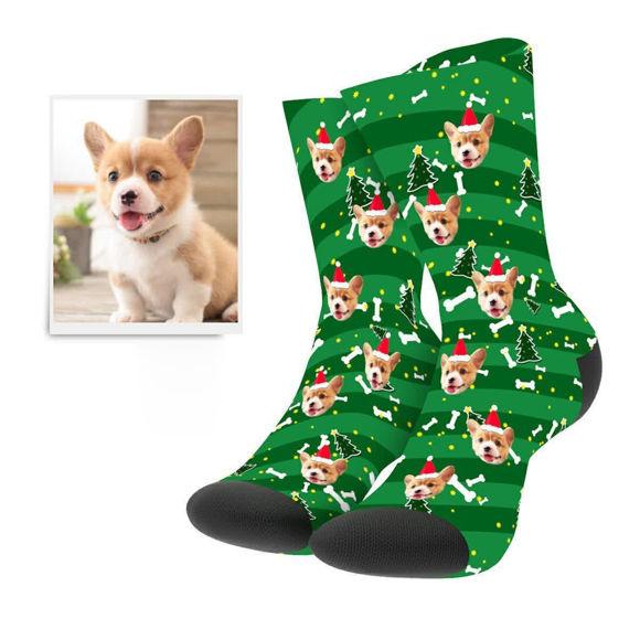 Immagine di Calzini natalizi personalizzati con foto per cani