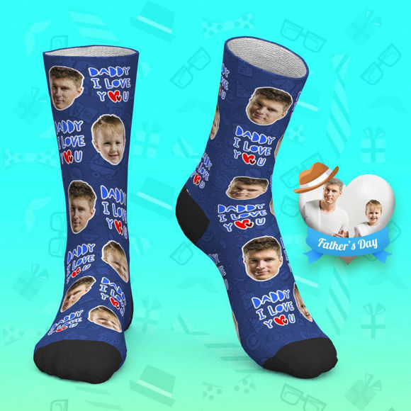 Picture of Custom Face Socks - Love Daddy