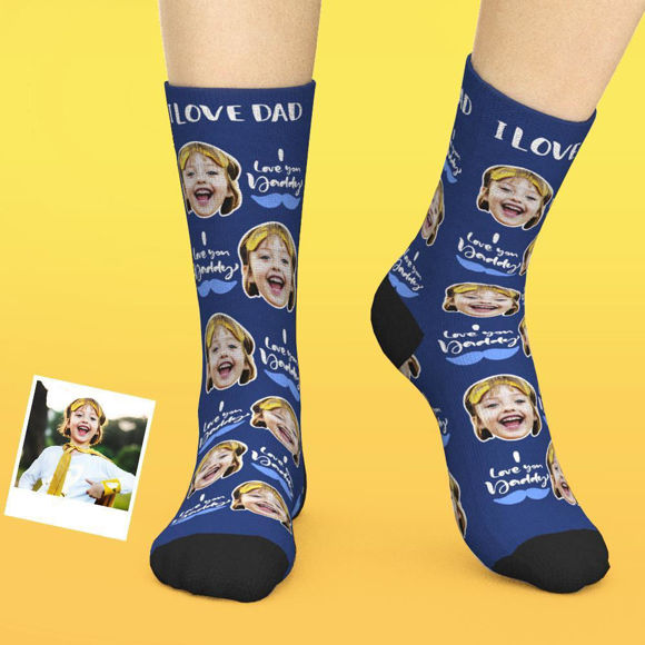 Immagine di Calzini personalizzati per il viso - Ti amo papà