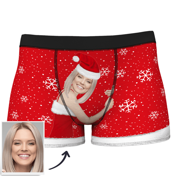 Image de Boxer de Noël personnalisé pour hommes