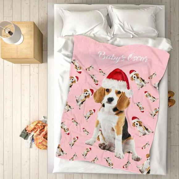 Immagine di Coperta fotografica personalizzata per il regalo di Natale