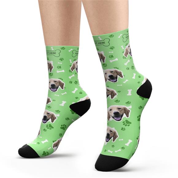 Immagine di Calzini personalizzati con foto con incisione del muso di cane