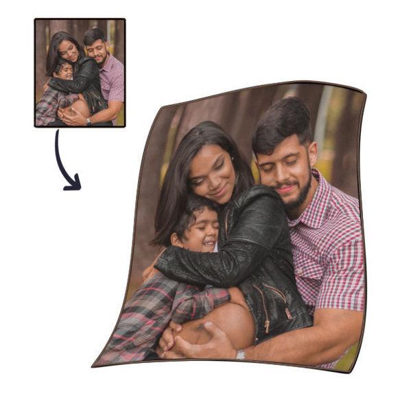 Immagine di Coperte familiari personalizzate personalizzate per regali