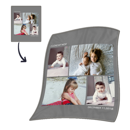 Picture of Custom Four-Picture Stitching Children's Blanket