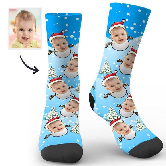 Picture of Custom Christmas Snowman Socks