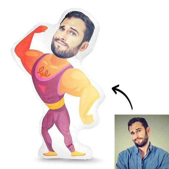 Immagine di Cuscino personalizzato con foto Muscle Man per regalo