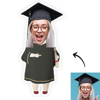 Immagine di Cuscino fotografico personalizzato per regalo di laurea