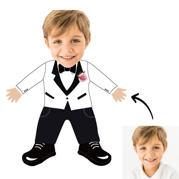 Immagine di Cuscino fotografico personalizzato per il miglior figlio