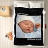 Immagine di Coperta in pile con foto personalizzata per bambini