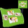 Immagine di Regalo perfetto per la coperta personalizzata con 4 foto