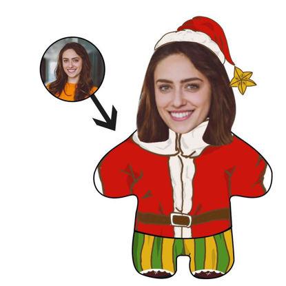 Immagine di Cuscini per il viso con foto personalizzata Cuscini di Babbo Natale per i regali