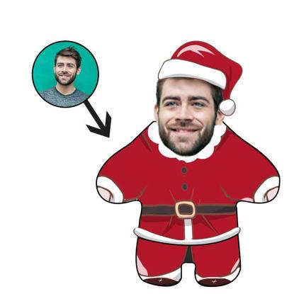 Immagine di Cuscino fotografico personalizzato Regalo di Natale divertente