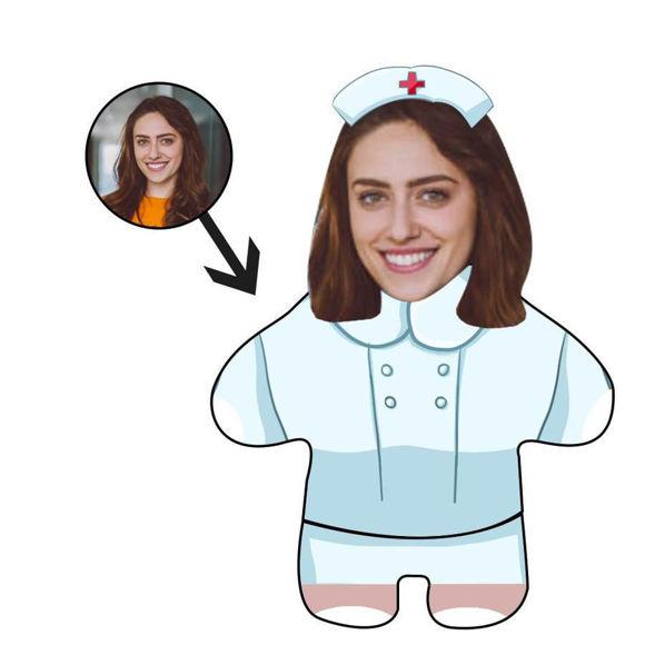 Immagine di Regalo personalizzato per cuscino con foto per infermiera