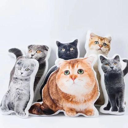 Immagine di Cuscino personalizzato per il viso di gatto per regalo