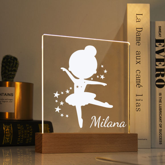 Immagine di Luce notturna ballerina - Personalizzata con il nome di tuo figlio
