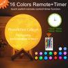 Immagine di Lampada lunare con foto personalizzata 3D magica con controllo tattile per padre (10cm-20cm)
