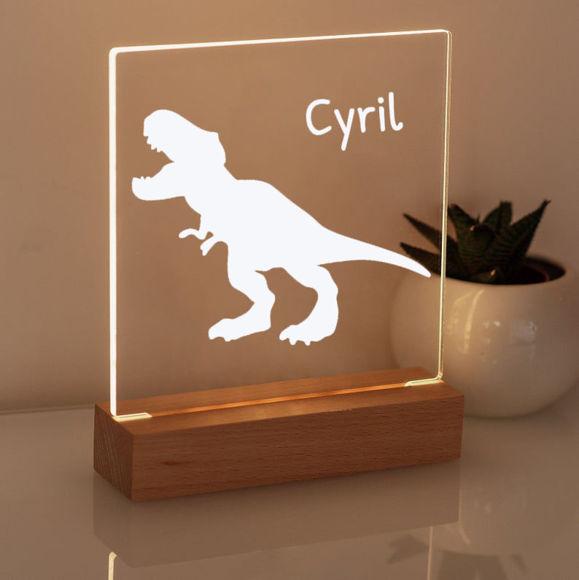 Immagine di Dinosaur Night Light - Personalizzata con il nome di tuo figlio