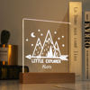 Immagine di Luce notturna Little Explorer Mountain - Personalizzata con il nome di tuo figlio