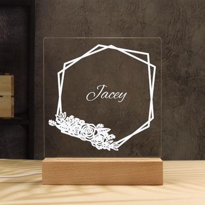 Immagine di Luce notturna di piccoli fiori - Personalizzata con il nome di tuo figlio