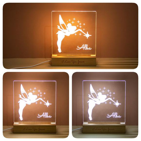 Immagine di Luce notturna unicorno - Personalizzata con il nome di tuo figlio