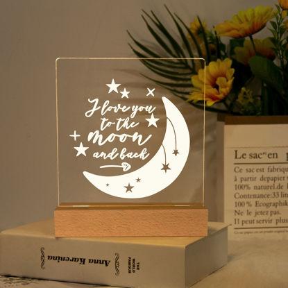 Immagine di Ti amo fino alla luna e alla luce notturna posteriore