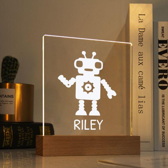 Immagine di Luce notturna robotica - Personalizzala con il nome di tuo figlio