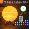 Immagine di Lampada lunare 3D con touch o telecomando - Il miglior regalo per il compleanno delle bambine e dei maschietti