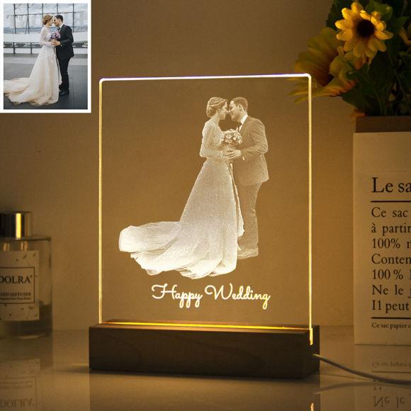 Immagine di Luce notturna personalizzata con intaglio laser interno per regali