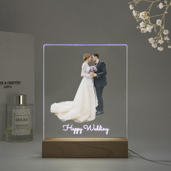 Immagine di Luce notturna a colori personalizzata - Personalizza con la tua bella foto