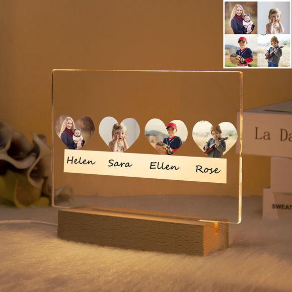 Immagine di Luce notturna per famiglie personalizzata: personalizza con la tua bella foto