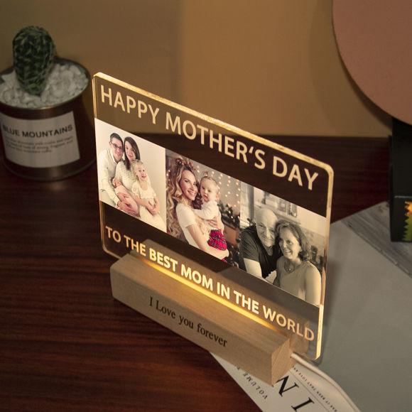 Immagine di Luce notturna per famiglie personalizzata per regali: personalizza con la tua bella foto