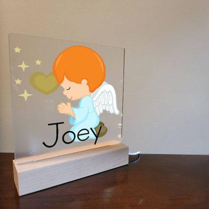 Picture of Custom Boy Angel Night Light For Gift